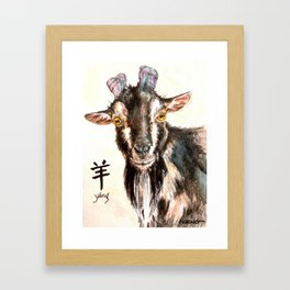 Year of the Goat Framed Art Print