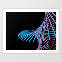 29D (N) : Neon - Line Art Print