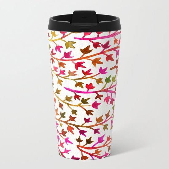 Pink Ivy Metal Travel Mug