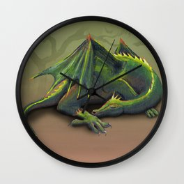 Sleeping dragon Wall Clock