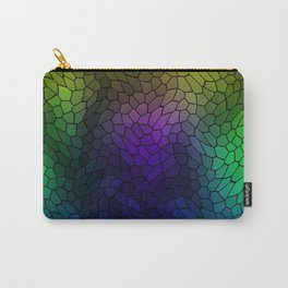 Volumetric texture of pieces of blue glass with a luminous mysterious mosaic. Carry-All Pouch