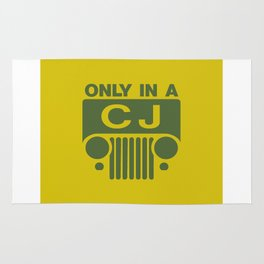 only in a cj jeep Rug