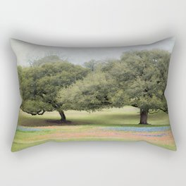 Hillcountry Bluebonnets Rectangular Pillow