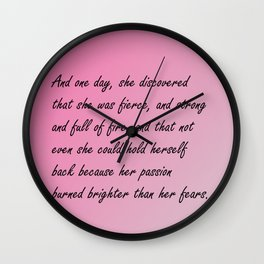 And one day, Wall Clock