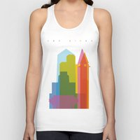 san diego Tank Tops featuring Shapes of San Diego by Glen Gould