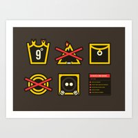 lord of the ring Art Prints featuring Take Care Ring-bearer by Barn Bocock