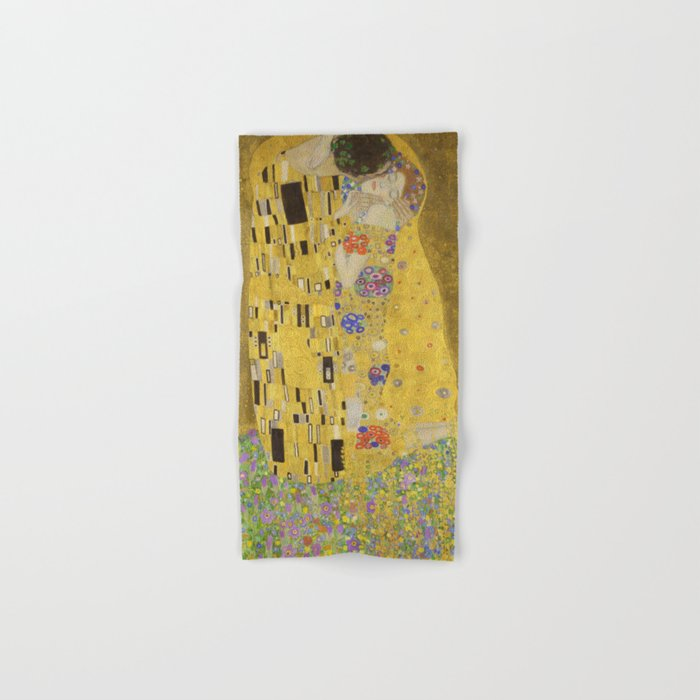 The Kiss by Gustav Klimt Hand & Bath Towel