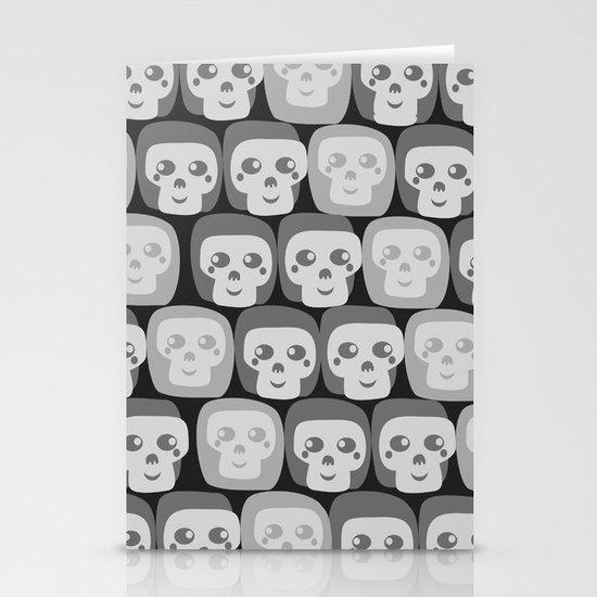 Boo - Skulls Pattern Stationery Cards
