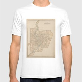 Vintage Map of Rochester NY (1895) T-shirt