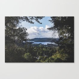 View of Lake Windermere - Landscape and Nature Photography Canvas Print