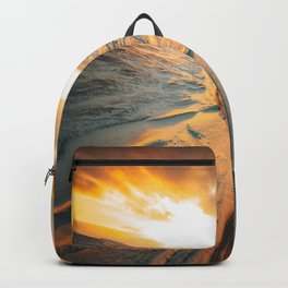 iceland road aerial view Backpack