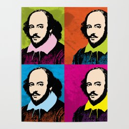WILLIAM SHAKESPEARE (4-UP POP ART COLLAGE) Poster