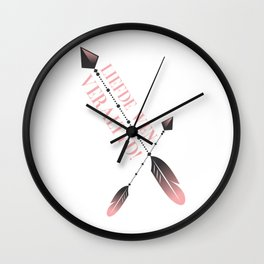 Liefde wen veraltyd pienk Wall Clock