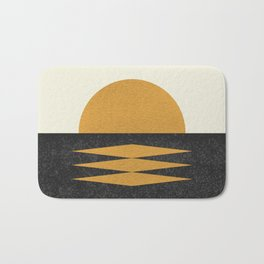 Sunset Geometric Bath Mat