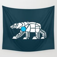 polar bear Wall Tapestries featuring Polar Bear by Hinterlund
