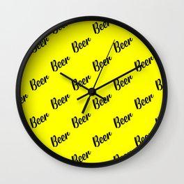 beer pattern Wall Clock