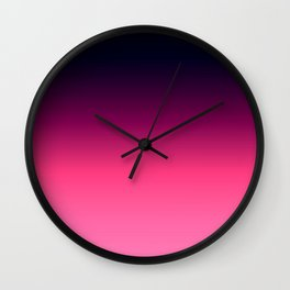 Eggplant Purple Pink Ombre Gradient Wall Clock