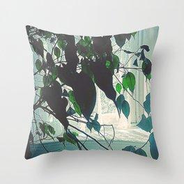 Window Sill Backlight Throw Pillow