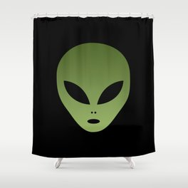 Extraterrestrial Alien Face Shower Curtain