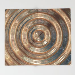 Space Swirl no1 Throw Blanket