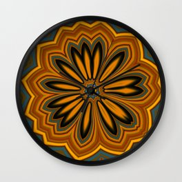 Floral message #4 Wall Clock