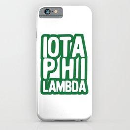Iota Phi Lambda iPhone Case