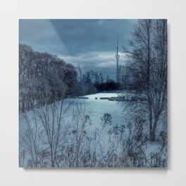 Blue Winter in Toronto Metal Print