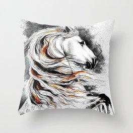 Dark Beauty Horse Throw Pillow