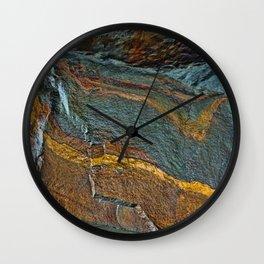 Abstract rock art Wall Clock