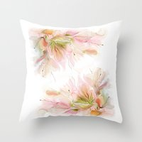 postcard Throw Pillows featuring postcard by tatiana-teni