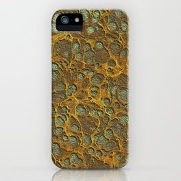 Dark Olive Green4 Gold Marble iPhone Case