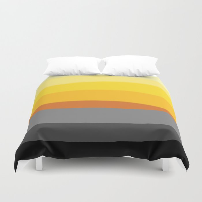 Lemon Sunset Duvet Cover