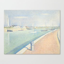Georges Seurat - The Channel of Gravelines Canvas Print