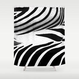 Heart of Zebra Shower Curtain