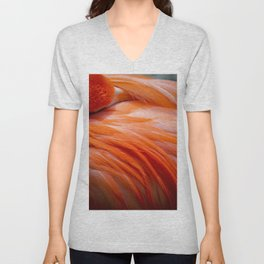 Flamingo Feathers Unisex V-Neck