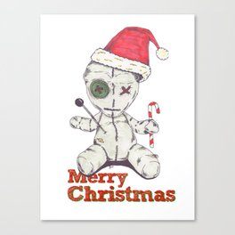 Merry Christmas Voodoo Doll Canvas Print