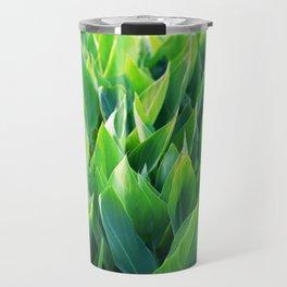 Green leaves so beautiful. Travel Mug