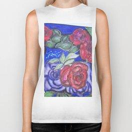 Roses And Blue Biker Tank