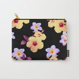 Hibiscus and Plumeria Carry-All Pouch
