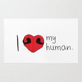 I Love My Human Rug