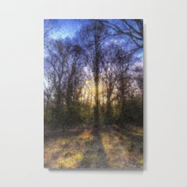 Pastel Shades of the Forest Metal Print