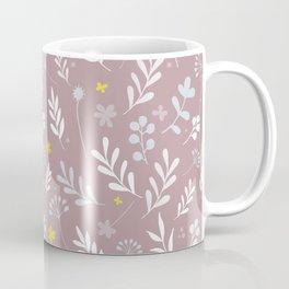 Floral Pattern 1 - PINK BACKGROUND Coffee Mug