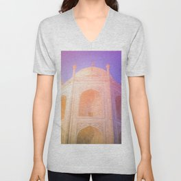 Morning Light Reflexion at Taj Mahal Unisex V-Neck
