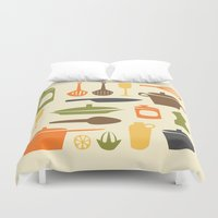 kitchen Duvet Covers featuring Kitchen by Bellwheel