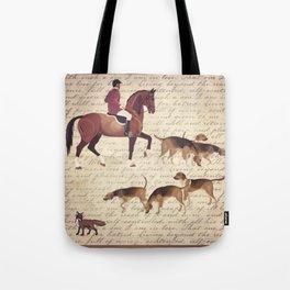 English country foxhunt print Tote Bag