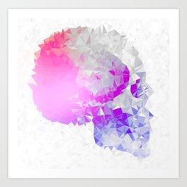 Low poly skull Art Print