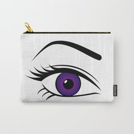 Violet Right Eye Carry-All Pouch