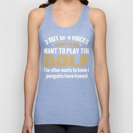 Golf Player Voices In My Head  Unisex Tank Top
