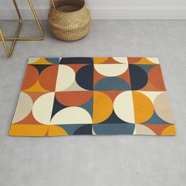 mid century abstract shapes fall winter 3 Rug