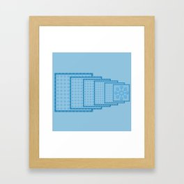 Blue Blocks big to Small Framed Art Print